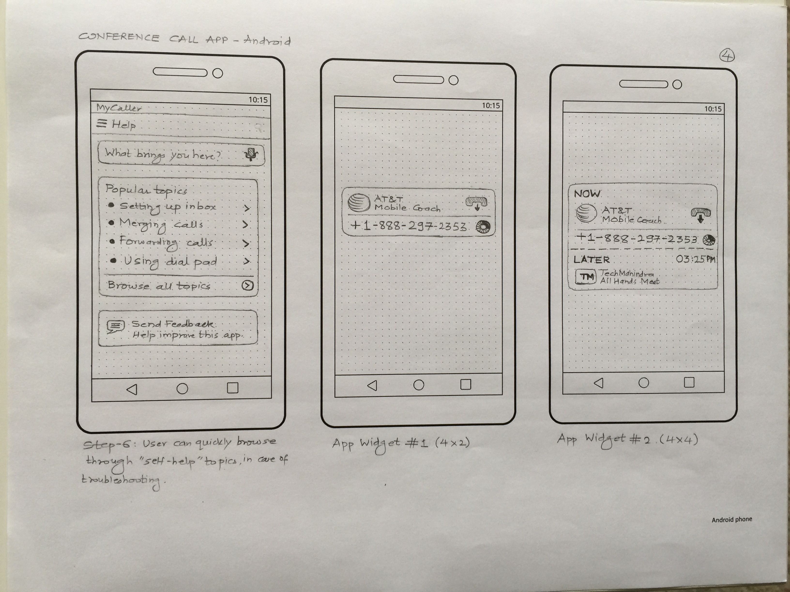 android paper prototypes for everyday design