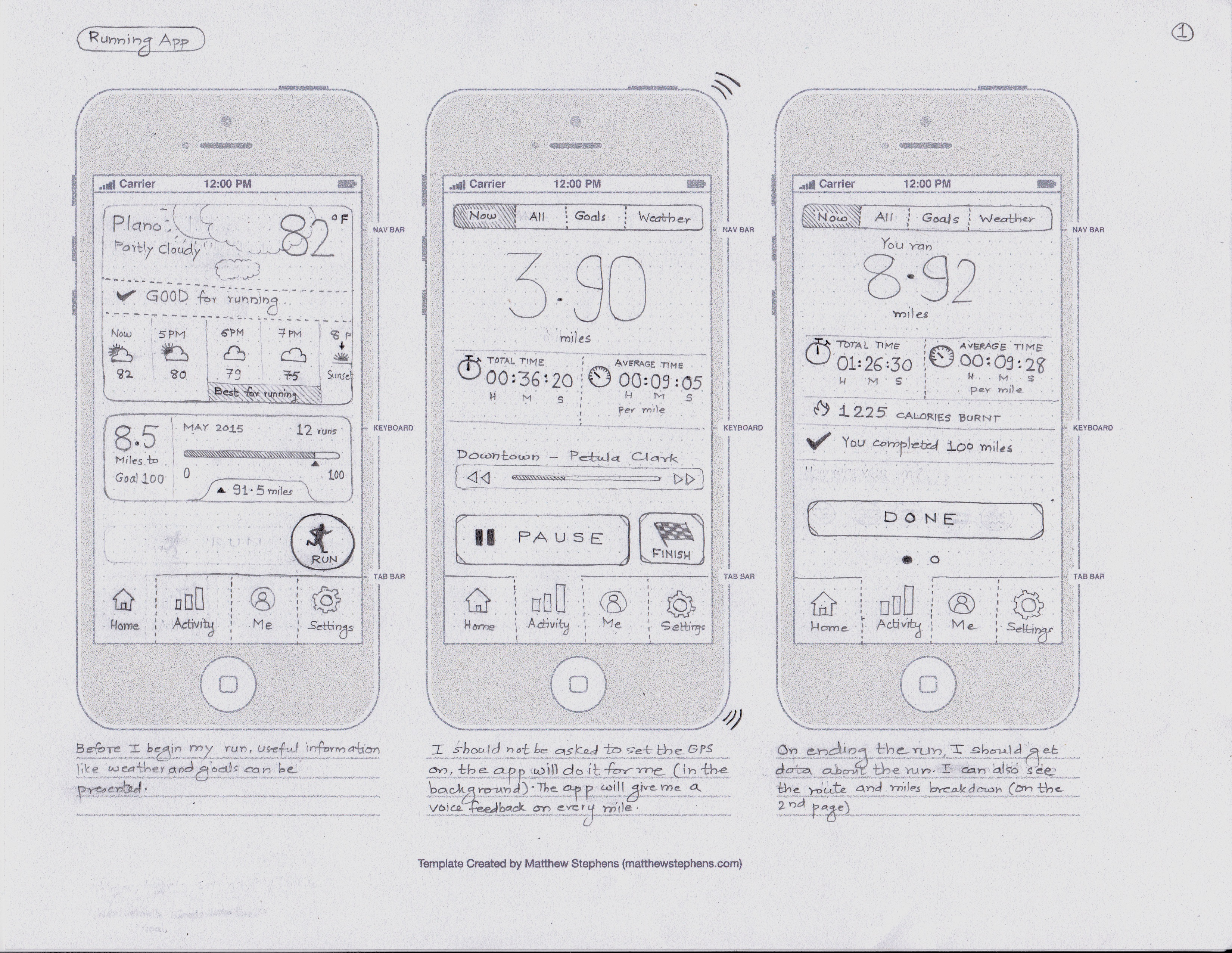 Running App Concept - Page1