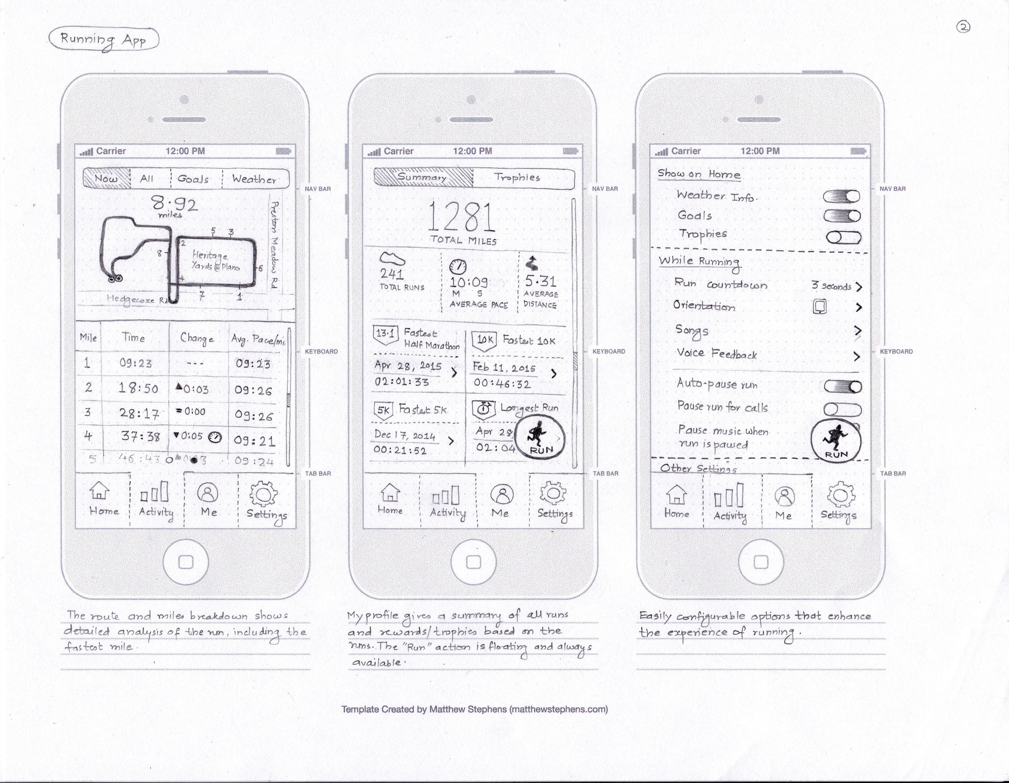 Running App Concept - Page2